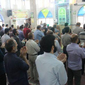 خمام - نماز عید سعید قربان در جوار آستان مقدس امامزاده حسن (ع) برگزار شد