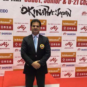 خمام - علیرضا نوروزی در رقابتهای بینالمللی کاراته به قضاوت میپردازد