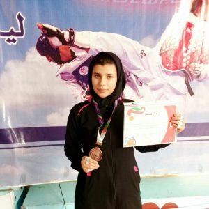 خمام - مهسا حسنی در رقابتهای تکواندوی المپیاد کشوری دانشجویان دختر دانشگاه فنی به مدال برنز دست یافت