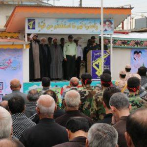 خمام - صبحگاه مشترک نیروهای نظامی و انتظامی در خمام برگزار شد