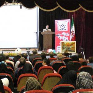 خمام - مراسم اختتامیه کلاسهای تابستانه کانون شهید حقشناس و کانون عفاف برگزار شد
