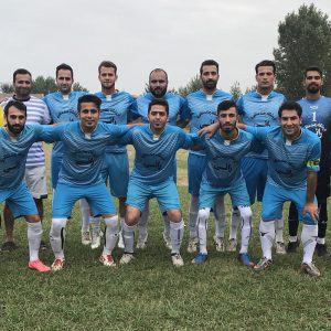 خمام - تیم فوتبال شهید فانی با نتیجهی ۵ بر ۱ تیم توابع رشت را کنار زد
