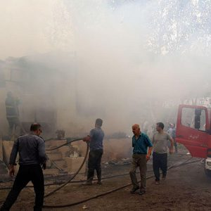 خمام - یکباب منزل مسکونی دچار آتشسوزی شد