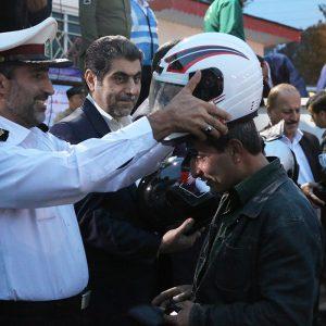خمام - دهستان چوکام یکیاز نقاط حادثهخیز گیلان با بیشترین تلفات در حوادث موتورسواران و عابران پیاده بوده / ۷۵ عدد کلاه ایمنی به موتورسواران اهدا شد