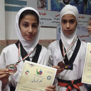 خمام - دختران خمامی در مسابقات تکواندوی نونهالان گیلان به ۱ مدال طلا و ۱ مدال برنز دست یافتند