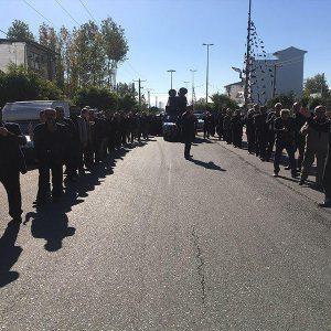 خمام - پیادهروی جاماندگان اربعین حسینی در خمام برگزار شد