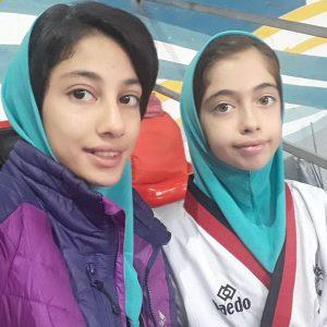 خمام - فاطمه قربانی و فاطمه نوروزی در رقابتهای لیگ تکواندوی پومسه دختران گیلان به مقام دوم دست یافتند