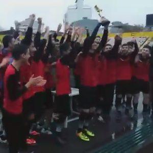 خمام - تیم فجر گیلان قهرمانی خود در لیگ برتر جوانان شهرستان رشت و صعود به لیگ دسته اول گیلان را جشن گرفت