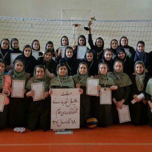 خمام - تیم دبیرستان دهخدا به قهرمانی مسابقات والیبال مدارس دخترانهی بخش خمام در مقطع متوسطه اول دست یافت
