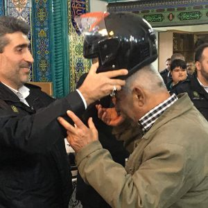 خمام - ۵۰ عدد کلاه ایمنی به موتورسواران روستای فشتکه اول اهدا شد