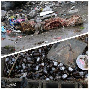 خمام - یک خیابان، دو فرعی مملو از زباله!