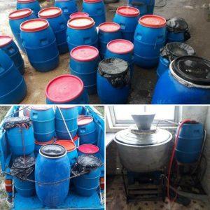 خمام - ۳,۳۴۰ لیتر مشروبات الکلی دستساز در یک کارگاه خانگی کشف و ضبط شد