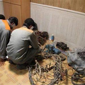 خمام - ۳ متهم سرقت کابلهای برق دستگیر شدند