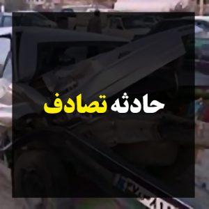 خمام - راننده ۴۰۵ در برخورد با پژو پارس روانه بیمارستان شد