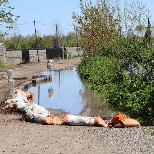 خمام - نگرانیاز بالا آمدن سطح آب رودخانهها