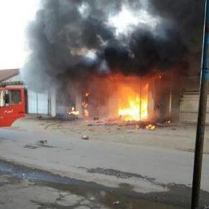 خمام - آتشسوزی ۵ باب مغازه در دهنهسر شیجان