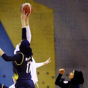 خمام - تیم بسکتبال بانوان آرنا کاظمی مقابل ملوان بندرانزلی پیروز شد