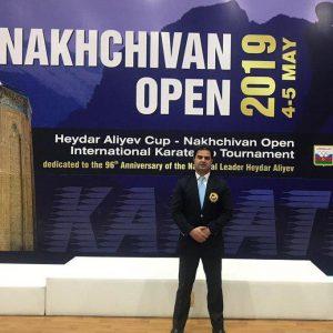 خمام - علیرضا نوروزی در رقابتهای کاراته بینالمللی کاپ آزاد نخجوان به قضاوت پرداخت