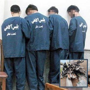 خمام - سارقان نبشی دکلهای برق دستگیر شدند