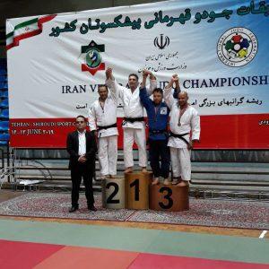خمام - نایبقهرمانی جلیل غیاثی در رقابتهای قهرمانی جودوی پیشکسوتان کشور