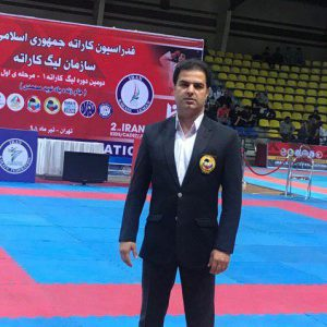 خمام - قضاوت علیرضا نوروزی در دومین دوره لیگ کاراتهوان