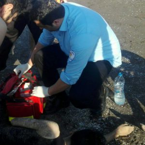 خمام - جوان ۲۵ ساله کاشانی از غرقشدن در ساحل جفرود بالا نجات یافت