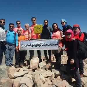 خمام - تیم منتخب هیات کوهنوردی خمام به ۲ قلهی بلند رشتهکوه سهند صعود کرد