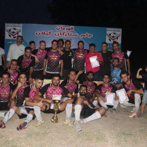 خمام - تیم شهید فانی به قهرمانی مسابقات فوتبال جام ستارگان گیلان دست یافت