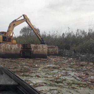 خمام - ۷ کیلومتر از شیجانرود با استفادهاز بیل شناور لایروبی میشود