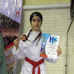 خمام - سیدهمریم حسینی در مسابقات قهرمانی کاراته بانوان کشور به مدال برنز دست یافت