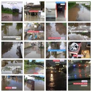 خمام - بسیاری از معابر و خیابانهای خمام با کوچکترین بارندگی دچار آبگرفتگی شدید میشود