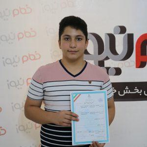 خمام - علی هاشمی موفق به ثبت اختراع «سیستم کنترلی اجاقگاز خانگی» شد