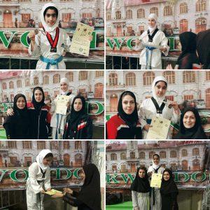 خمام - دختران خردسال خمامی در رقابتهای تکواندوی استانی به ۵ مدال برنز دست یافتند