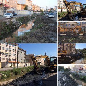 خمام - شهردار خمام از آغاز عملیات لایروبی رودخانه در خیابان حافظ خبر داد