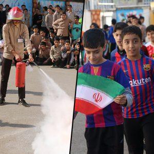 خمام - ششمین المپیاد ورزشی درون مدرسهای آغاز شد / برگزاری مانور امداد و نجات در مدارس خمام
