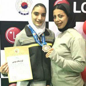 خمام - کوثر غلامیصفت به مدال برنز مسابقات تکواندوی نوجوانان کشور دستیافت