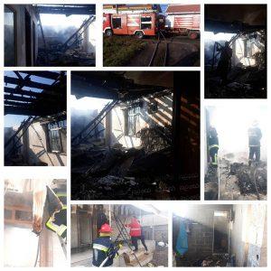 خمام - یک باب منزل ویلایی در روستای تیسیه دچار آتشسوزی شد