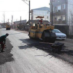 خمام - سرانجام خیابان شهید همت آسفالت شد