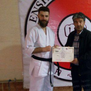 خمام - سجاد نظمی بهعنوان نماینده سبک انشین کاراته در گیلان منصوب شد