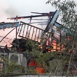 خمام - آتشسوزی یک باب منزل ویلایی در تیسیه