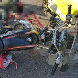 خمام - برخورد موتورسیکلت با خودروی وانت جان سرباز وظیفه را گرفت