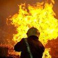 یکباب مغازه در روستای دافچاه در آتش سوخت