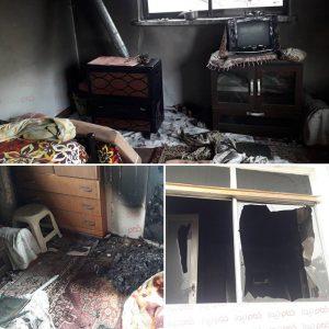 خمام - آتشسوزی پیرزن خمامیرا به کام مرگ کشاند