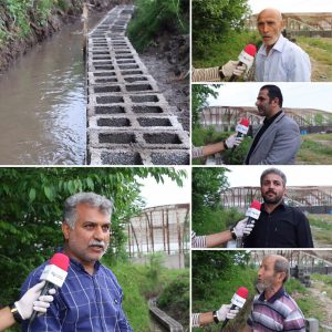 خمام - اعتراض کشاورزان به دیوارچینی در حریم نهر آب