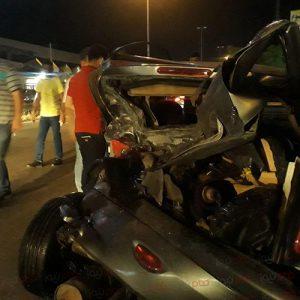 خمام - سانحه تصادف ۶ وسیله نقلیه در چاپارخانه ۶ مصدوم برجای گذاشت