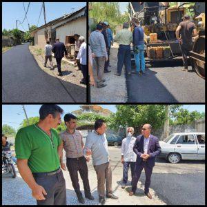 خمام - ۲,۲ کیلومتر از روستای خواچکین آسفالت میشود