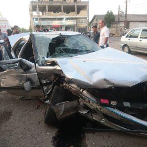 خمام - ۵ مصدوم در تصادف ۲ خودروی سواری