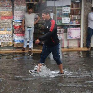 خمام - تسلیمشدن معابر شهری در مقابل بارش باران