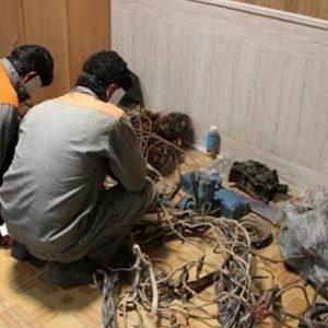 خمام - سارقین کابلهای تلفن دستگیر شدند