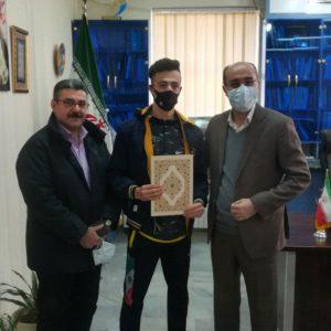 خمام - از مرتضی رضاصفت برای کسب مدال نقره در مسابقات آزاد پومسه ناشنوایان جهان تقدیر شد